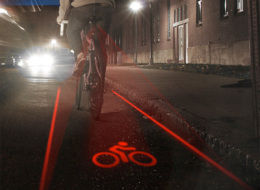 Laser Light Bike Lane