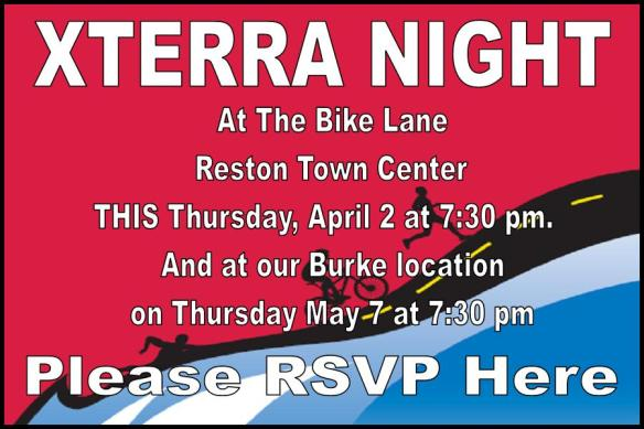Xterra Night this Thursday at TBL in Reston!