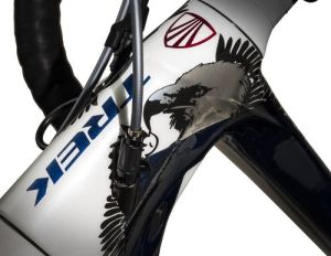 Melissa's Madone pays tribute to two of her great loves: America and triathlon