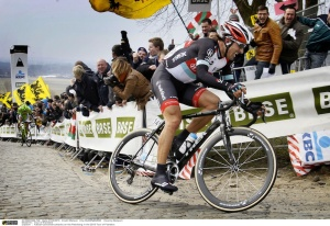 Spartucus's taking the lead at the 2013 Tour de Flanders