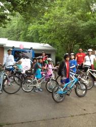 Bike Train heading to Oak View