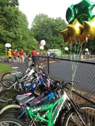 The bike rack was full!