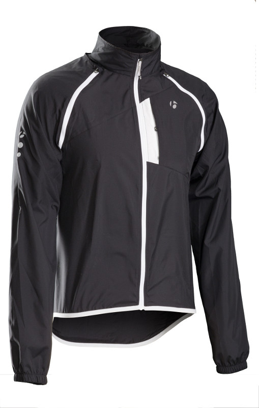The front of the Men's Bontrager Convertible Jacket